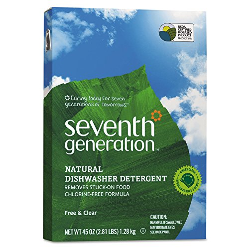 Seventh Generation Natural Automatic Dishwasher Powder, Free & Clear, 45oz Box