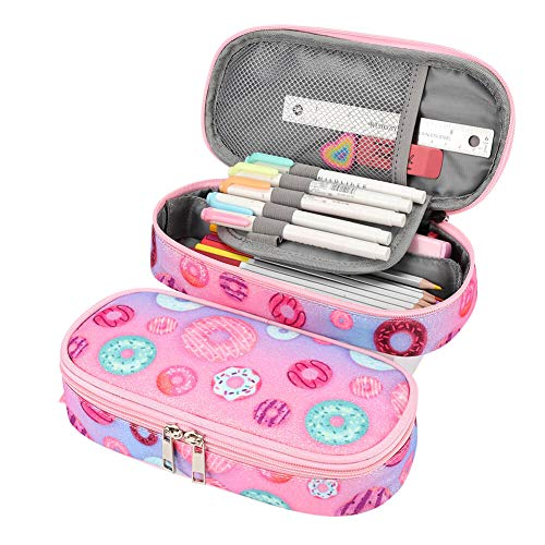 Mibasies Pencil Case for Little Girls and Kids Pen Pouch (Donuts)