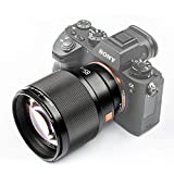 VILTROX ソニーEマウントカメラ用単焦点レンズ PFU RBMH 85mm F1.8 STM オートフォーカス 瞳AF対応 Eマウント交換レンズ 85mm焦点距離 F1.8大口径 ポートレート撮影 ソニー A7シリーズ/A6400/A6500/A6300など用