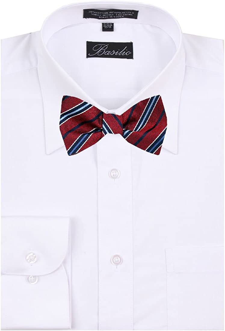 FBTZ-1562 - Men's Silk Self Tie Bowtie Tie Yourself Bow Ties