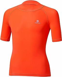 HMILES Girls Rash Guards Surf Shirt UV Sun Protection Swim Tee Children Quick Drying Rash Vest