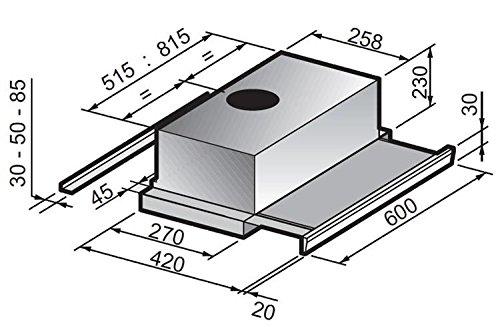 60 cm Campana Cielo Extractor 618 M3/H integrados s3plus60ix fabricado en italia: Amazon.es: Grandes electrodomésticos