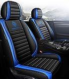 Protector De La Cubierta del Asiento del Coche La Almohadilla Cuero Delantera + Trasera Protege El Juego Completo Universal para Audi A6l Q3 Q5 Q7 S4 A5 A1 A2 A3 A4 B6 B8 B7 A6 C6 A7 A8,Standard-Blue