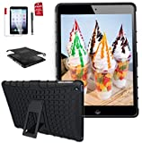 Ipad 4th Generation 9.7 inch case, ipad 3rd / 2nd Case for Ipad Model md510ll/A MC769ll /A Mc979ll /A Mc705ll /A Mc770ll /A case A1458 A1430 A1416 A1395 2In1 TPU+PC Design Cover (Black)