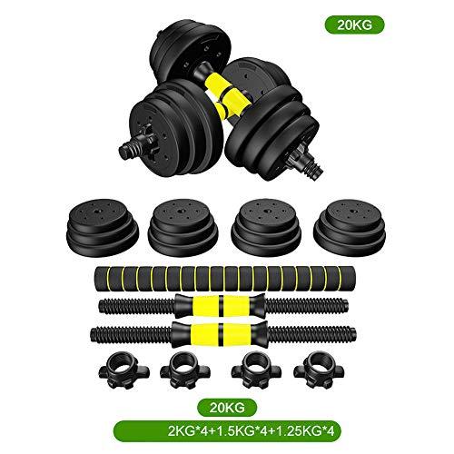 TANCEQI Múltiple De Mano BarraDe Pesas para Entrenamiento Muscular para Gimnasio En Casa Ejercicio con Pesas Gimnasio Entrenamiento Ejercicio De Fuerza para Mujeres Y Hombres,20kg