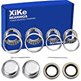 XiKe 2 Set Fits for 1-3/8'' to 1-1/16'' Axles Trailer Wheel Hub Bearings Kit, L68149/L68111 and L44649/L44610,...