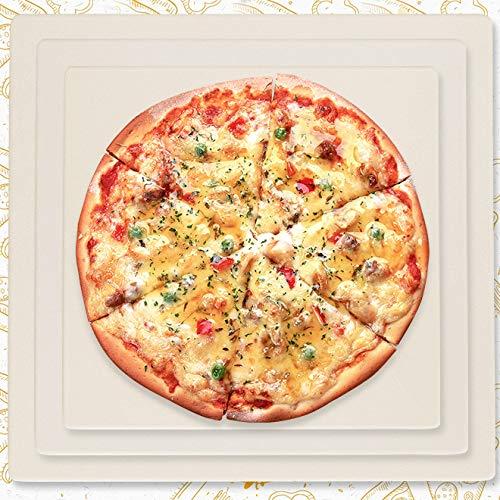 DZLXY Cordierite pizzasteen grillsteen, pizzasteen voor bakken, het beste voor bakken en serveren, BBQ, grill, baktaarten