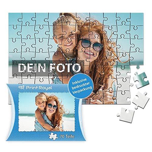 Print Royal Foto-Puzzle 24 - 1000 Teile in inkl. hochwertiger Verpackung - mit eigenem Foto Bedrucken - Puzzle selber gestalten - 70 Teile in Kartonverpackung