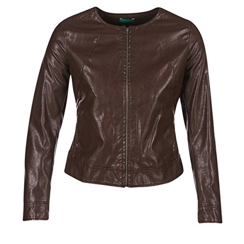 Benetton Janoura Jacken Damen Braun - DE 34 (IT 40) - Lederjacken/Kunstlederjacken Outerwear