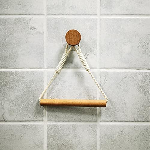 Titular de tejido Cuerda de pared de cáñamo soporte de papel higiénico retro Toalla de retro para decoración del hogar Papel Toalla Soporte Cuarto de baño Decoración (Color : F Round)