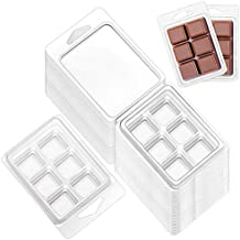 Opeshar 50 Packs Wax Melt Clamshells Molds, Clear Empty Plastic Cube Tray for Wickless Wax Tarts Candles