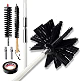 30 FT Dryer Vent Cleaning Brush,Dryer Vent Cleaner Kit,Chimney Cleaning Brush Kit,Fireplace Chimney Brushes Kit,Dryer Duct Cleaning Kit,Use with or Without a Power Drill 1 Year Warranty