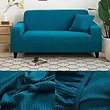 LINL Sofá Cama Jacquard protección sólida y setos Gruesos para Cubrir sofá Viviente para sofá Impreso,Jade,190-230cm 3 Lugares