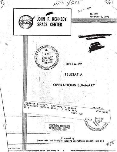 Delta-92 Telesat-A operations summary (English Edition)