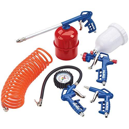 Clarke KIT1100 5 Pce Air Tool Kit Air Gun Tyre Inflator