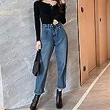 Pantalones Jeans Women Jeans Straight Pachwork Pocket Wide-Leg Women's Jeans...