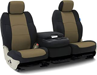 Coverking Custom Fit Seat Cover for Jeep Wrangler TJ 2-Door - (Neoprene, Black/Tan)
