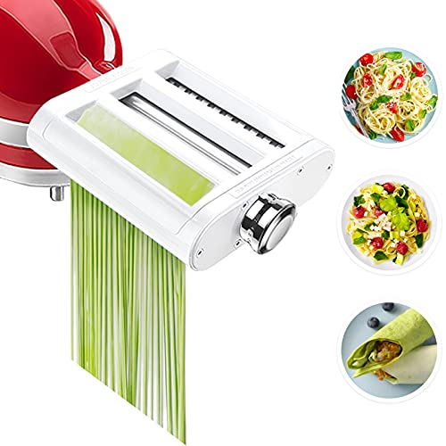 Pasta Maker Attachment for KitchenAid Stand Mixers 3 in 1 Set Includes...