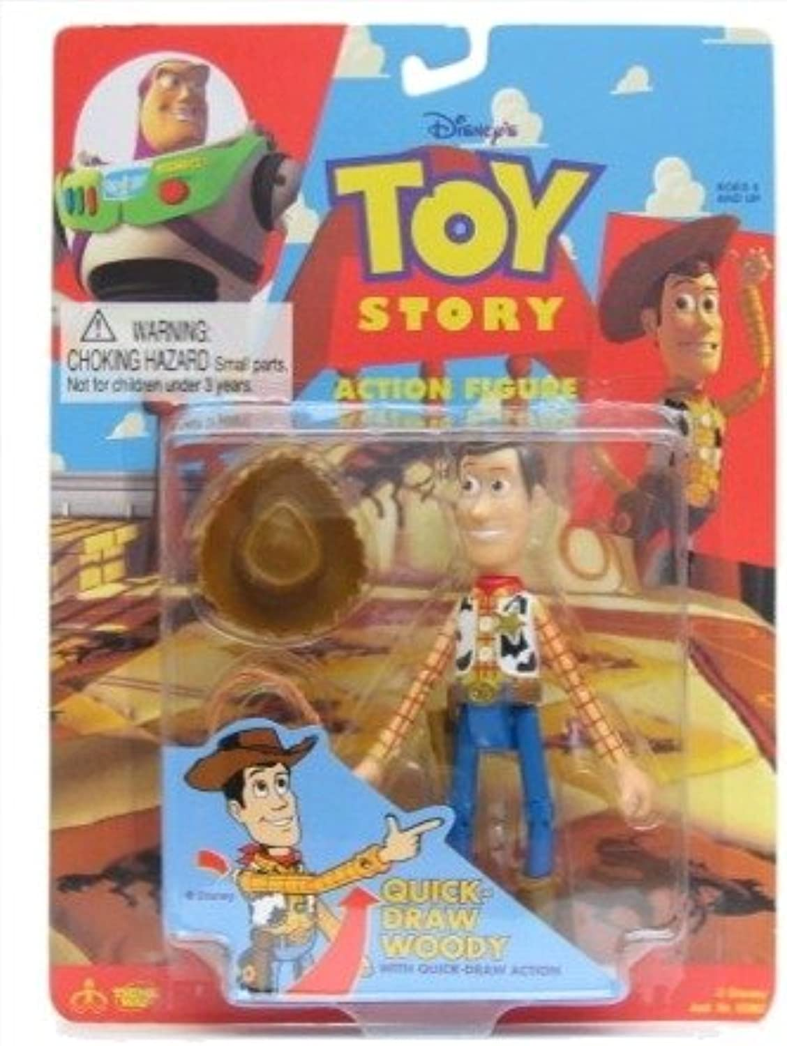 Disney Toy Story Quick Draw Woody Action Figure with Quick Draw Action