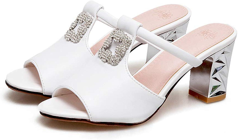 Eora-2sl Women Sandals Sweet peep Toe Elegant Summer shoes Rhinestone Comfortable Square Heel shoes Woman