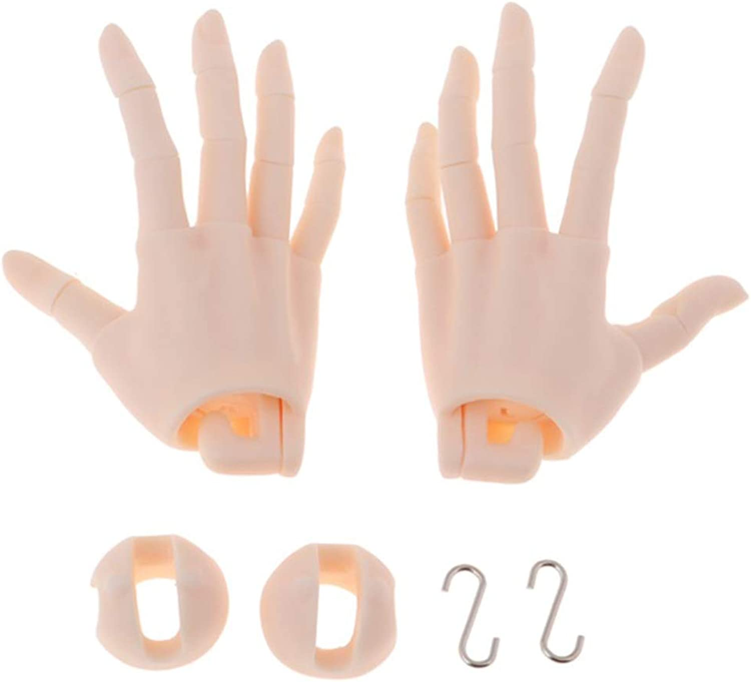 Kesoto 15 Joint Ball Jointed Doll Hands BJD Uncle Hand Model Accessory Pink Skin