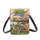 XCNGG bolso del teléfono Plants Vs Zombies Lightweight Leather Mobile Wallet, Small Messenger Bag, Mini Mobile Phone Bag, Shoulder Bag, Detachable Shoulder Strap, Suitable For Women
