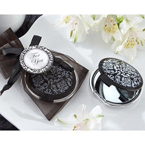 Vasara Lote de 20 Espejos Elegante Negro - Detalles Originales Invitados de Bodas, Regalos Comuniones y Recuerdos para Cumpleaños Infantiles