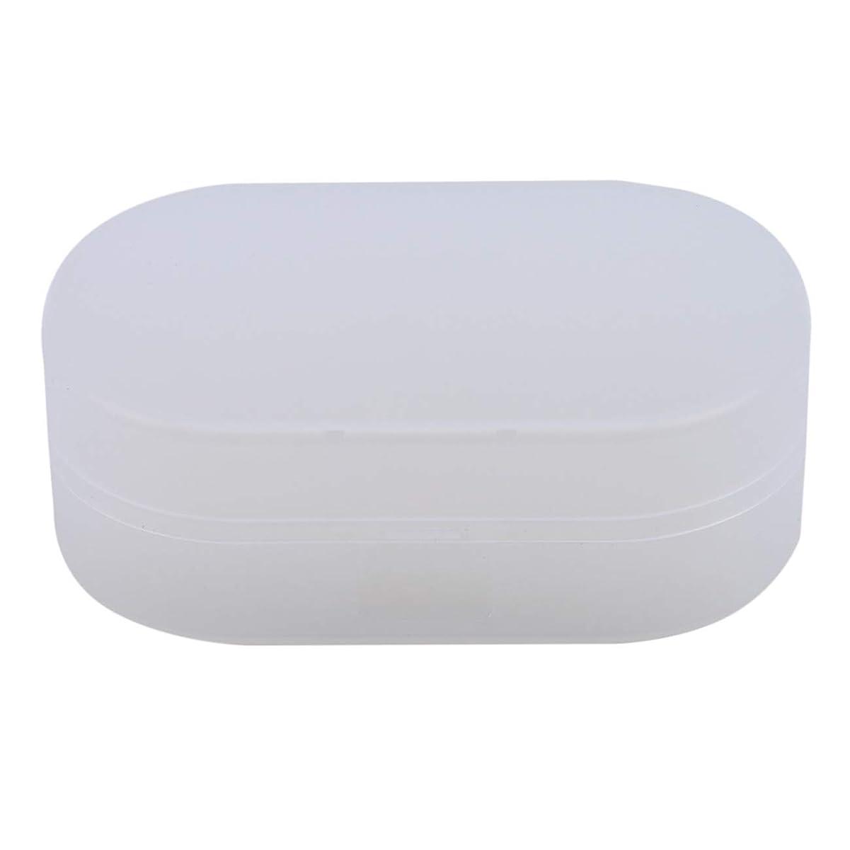 氷先にフリンジZALINGソープボックスホルダーソープディッシュソープセーバーケースコンテナ用バスルームキャンプホワイト