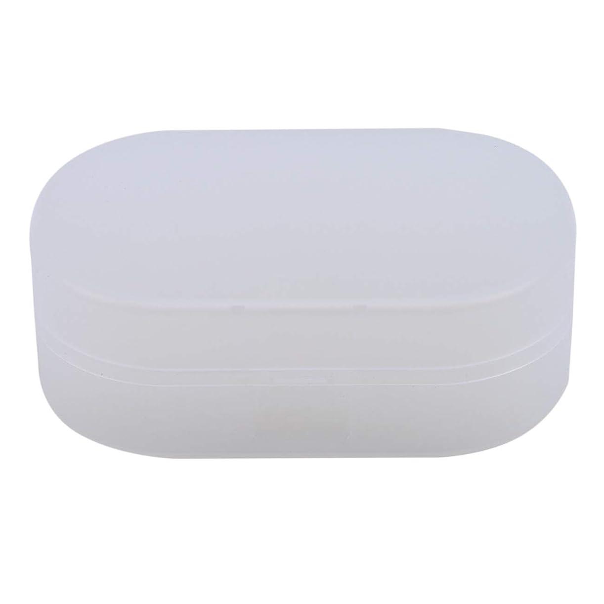 重荷船尾神秘的なZALINGソープボックスホルダーソープディッシュソープセーバーケースコンテナ用バスルームキャンプホワイト