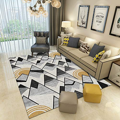 Nordic Modern 3D Simple Coffee Table Sofa Cushion Geometric Lines Non-Slip Thick Carpet Bedroom Living Room Hotel Bed And Breakfast Party Carpet