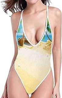 kjhep lk Conjoined Sling Bathing Suit Bikini top Mustard Yellow