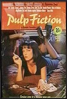 Pulp Fiction - Framed Movie Poster / Print (Uma On Bed) (Size: 27