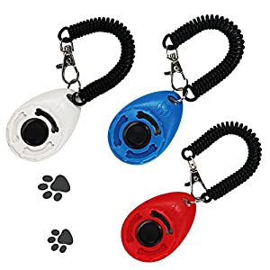 MG MULGORE Dog Training Clicker Puppy Clicker Exercice Outil Pet Clicker Dog Jeux de formation pour le guide Dog Training Noise