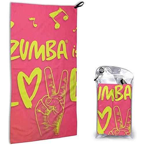 Jesse Tobias Zumba Love Unisex Schnelltrocknendes Handtuch Geeignet für Reisen im Fitnessstudio Camping Rucksack 27,5x15,7 Zoll