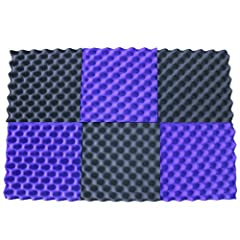"""PRODUCT IS SHIPPED AS 3 TILES, EACH TILE Splits into """"2 WEDGES"""". Once You Split - Each egg crate foam acoustic foam soundproofing Foam panels HIGHEST point reaches 1.5 inch height. Its LOWEST point reaches 1/2 inch in height. / Overall Noise Reductio..."""