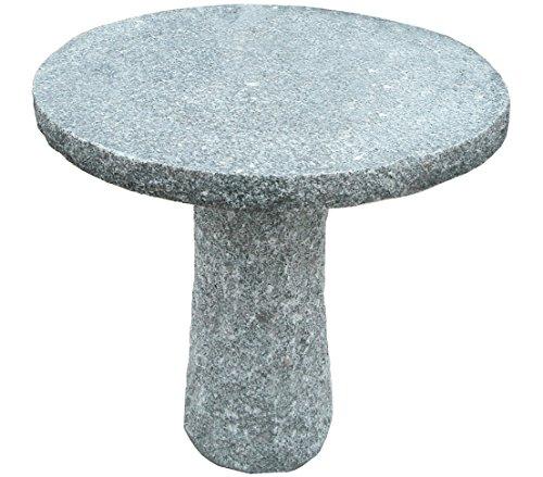 Dehner Gartentisch, rund, Ø ca. 75 cm, Höhe ca. 75 cm, Granit, grau