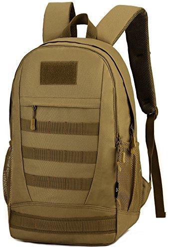 DCCN 35L Mochila táctica Militar Senderismo Molle Daypack para Outdoor Senderismo Camping Viajes, marrón