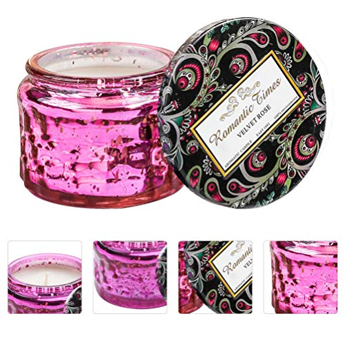PRETYZOOM Christmas Scented Candles Gift Coconut Wax Aromatherapy Candles Gifts Smokeless Portable Travel Scented Tin Candle with Lid Gifts for Women Mom Friend Bath (Red)