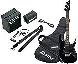 Ibanez IJRG200U-BK Jumpstart pack guitare électrique avec Amplificateur/Casque/Kit d'accessoires, Noir