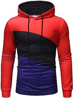 سويت شيرت رجالي بلوفر بأكمام طويلة من النوع الثقيل للرجال ملابس رياضية بأكمام طويلة، المقاس: XXX-Large (المقاس: M)