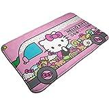 Bienvenido Hello Kitty Cafe Alfombrilla para puerta de coche Alfombra de entrada para interiores y exteriores Alfombrillas de goma Alfombrillas finas antideslizantes para alfombrilla de puerta delante