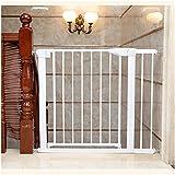 Barrera de Seguridad, Barrera de Seguridad Blanca, Barrera Escalera para Bebé y Perros, Ideal para Perros o Gatos, en escaleras en Interiores y Exteriores