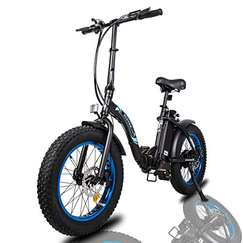 """ECOTRIC 20"""" Fat Tire Folding Electric Bicycle Bike Powerful 500W 36V/12.5AH Lithium Battery Alloy Frame Ebike Rear Motor LED Display"""