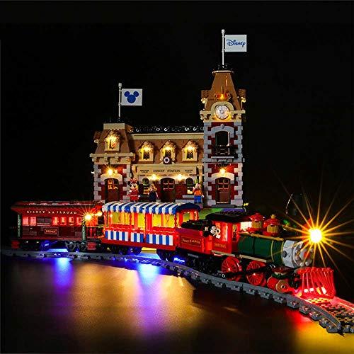 Kit De Iluminación LED Modelo Compatible con Lego 71044, Juego De Luces USB De Luminiscencia DIY para El Modelo De Bloques De Construcción De La Estación De Tren De Disney