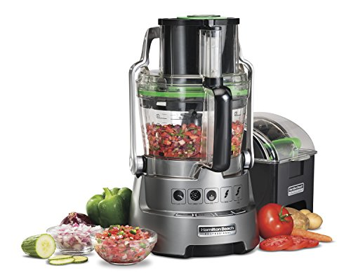 Hamilton Beach Professional 14-Cup Dicing Food Processor BPA-Free Bowl, Extra-Wide Feed Chute...