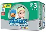 Moltex Premium Bolsa de Pañales Desechables - 30 Pañales - [pack de 3]