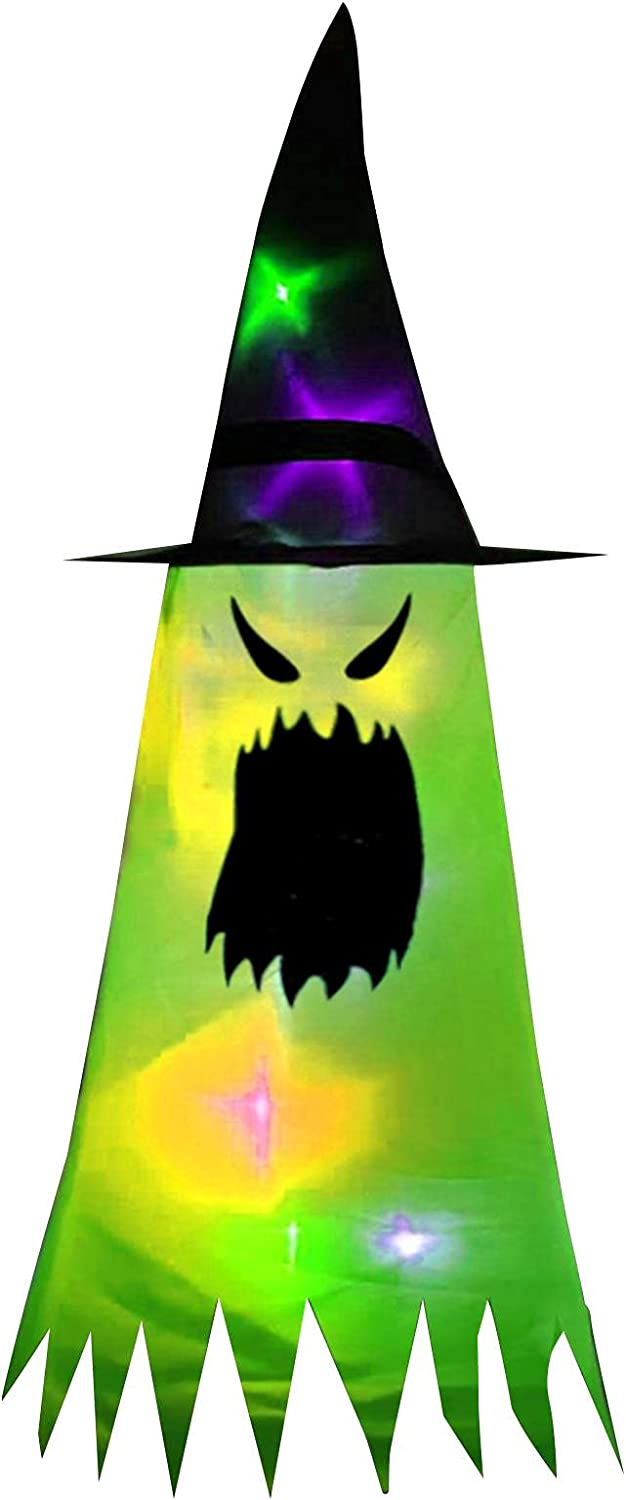 GEZICHTA Halloween Witch Hat Lights Decoration 1 8pcs Hangin Limited price sale Limited Special Price or