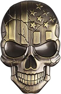 1797 Car Truck Accessories Stickers Decals Skull 3D Pirate Death USA Flag Stars Stripes Metal Decorations Emblem Badge Log...