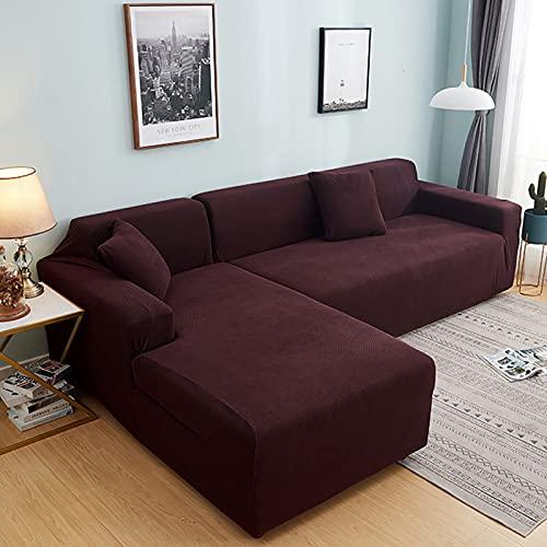 Plush soffa täcker för vardagsrum sammet elastisk hörn sektion soffa kärlek säte täcker fåtölj l-formade möbler slipcover för vardagsrum husdjur,Coffee,Chair90~140cm