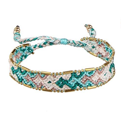 KELITCH Makramee Farbe Bonbon Breit Boho Gewebt Freundschaft Armband Handmade Armreifen Wickel Armband